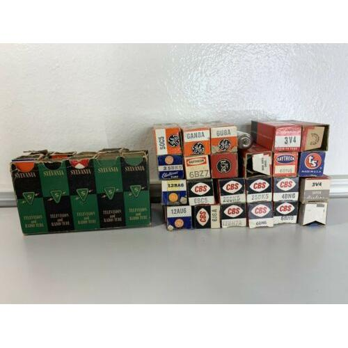 LOT OF 34 VINTAGE TV/RADIO ELECTRONIC TUBES