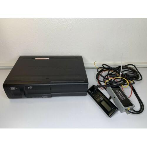 Ford Ranger factory 6 disc CD changer 95 96 97 F6FF-18C830-BA w/ Cartridge Cords