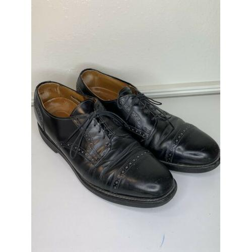 ALLEN EDMONDS Benton black leather Cap-Toe DRESS OXFORDS sz 10.5 A