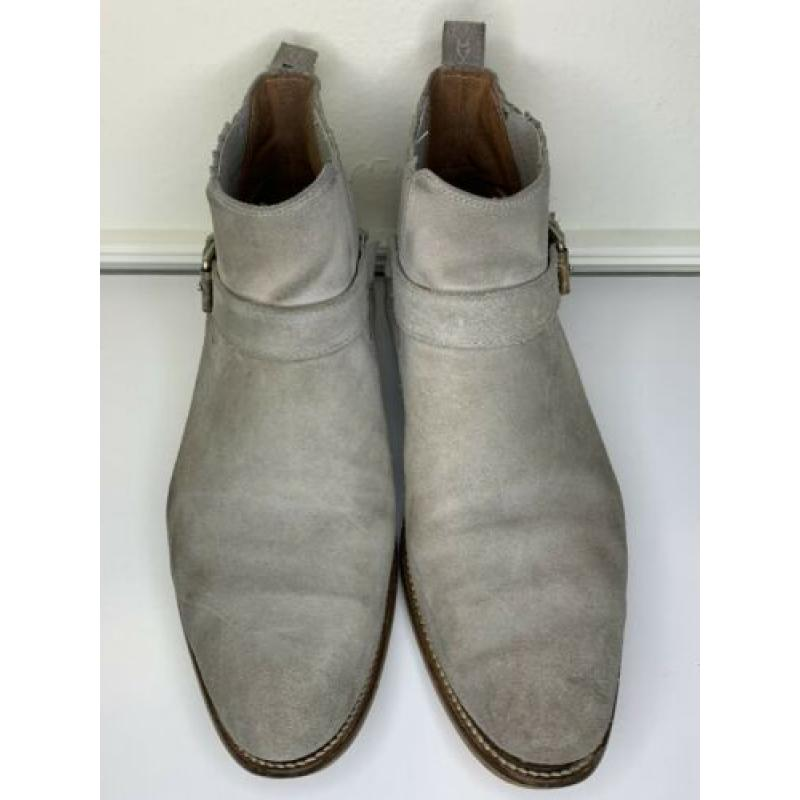 House Of Hounds Men's Adrian Suede Buckle Boots In Gray Size 11