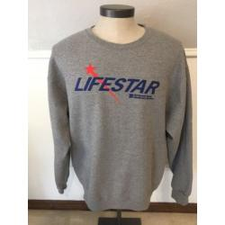 LIFE STAR Long Sleeve Fleece Lined Sweatshirt Sz XL Lifestar Helicopter Texas