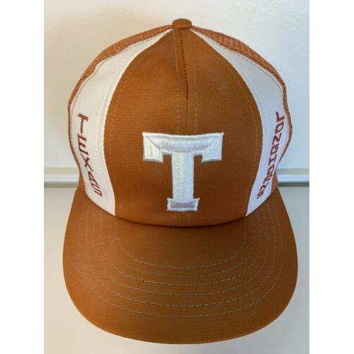 Vintage USA Texas Longhorns Snapback Trucker Mesh Hat Orange University RARE