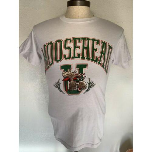 Vintage 1986 MOOSEHEAD BEER University CANADIAN LAGER t-shirt M Party School
