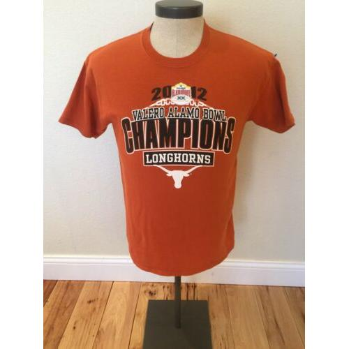 University Of Texas Longhorns 2012 Champions Valero Alamo Bowl T-Shirt Men's M