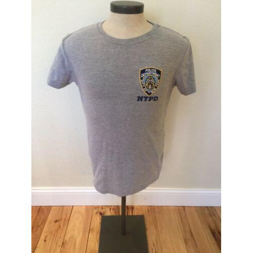 NYPD T-Shirt Official Embroidered Logo Patch NY Police Dept Tee NYC Men's Small
