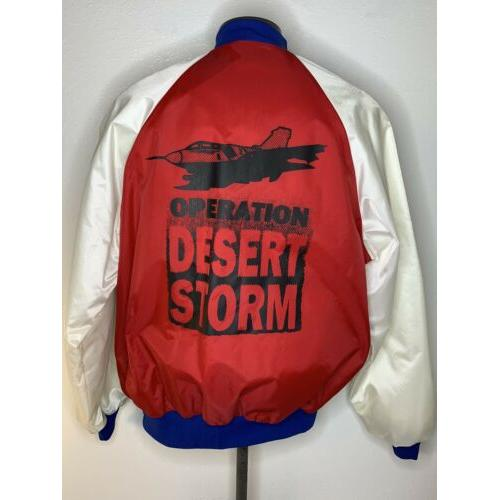 Desert Storm Jacket Vintage Black Sheep Red white Blue Bomber EUC XL Mens