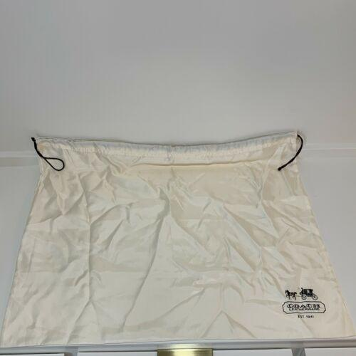 Coach Creme White Drawstring Storage Sleeper Dust Bag Pouch Logo 19 x 23