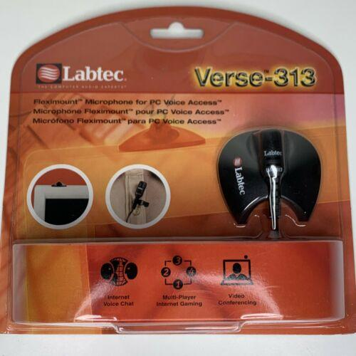 New Labtec Fleximount Black PC Microphone Verse 313 nib Video Conferencing Chat
