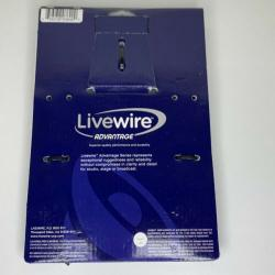 "Livewire Advantage 14g Speaker Cable 1/4"" Male to 1/4"" Male 5ft Long AS5QQ BLACK"