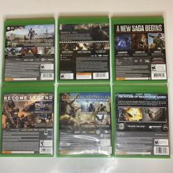 (6) XBOX One Games Lot Fallout Destiny Farcry Titanfall Gears Of War Wolfenstein