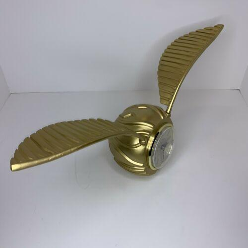 Harry Potter Golden Snitch Desk Clock Forbidden Forest WORKS DAMAGED WING