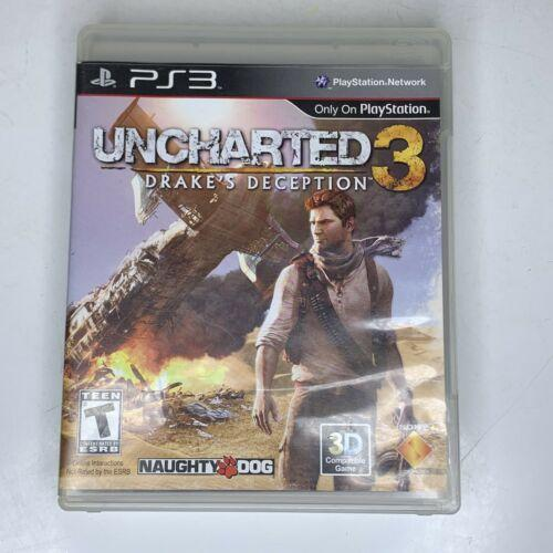 Uncharted 3 Drake's Deception Sony Playstation 3 PS3 2011 Black Label Complete
