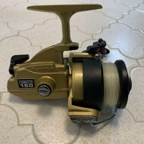 Olympic New Spark 150 Fishmaster Vintage Fishing Spinning Reel Gold Japan