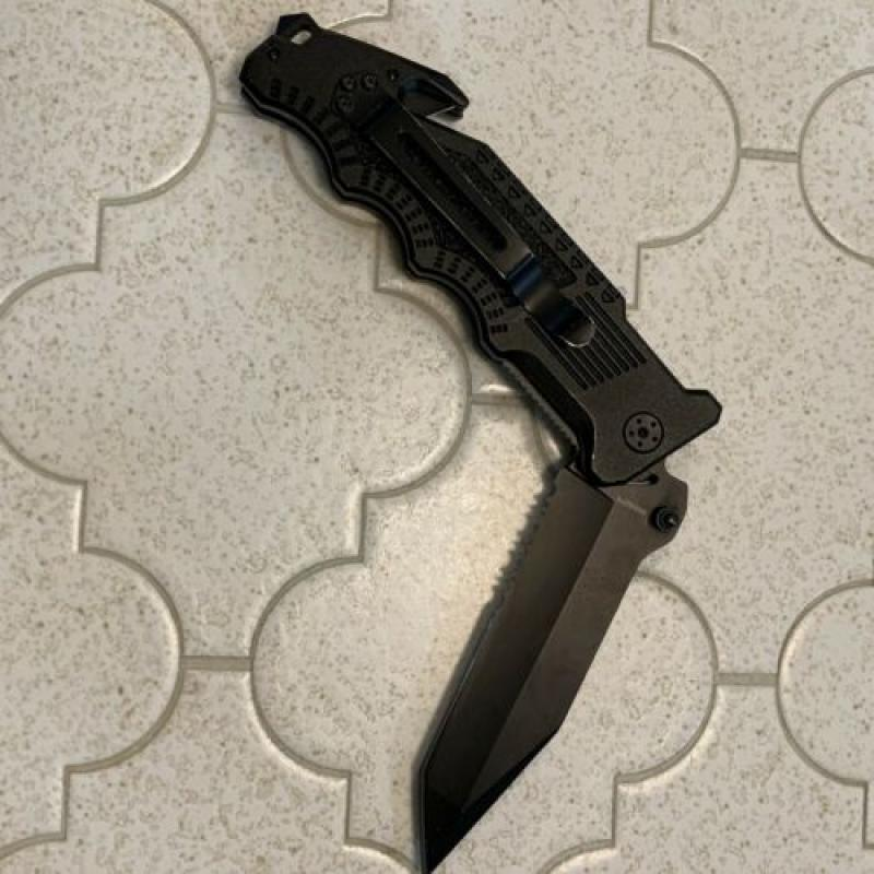 "Smith & Wesson Border Guard Liner Lock Tactical knife 10"" Black SWBG2TS"