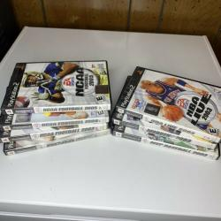 PS2 Sports Game Lot NCAA NBA NFL MLB 2002-2005 All Complete 7 Games Total