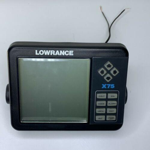 Lowrance X-75 fishfinder Head Unit For Parts Or Repair