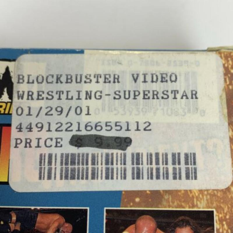 WCW/NWO GOLDBERG WHO'S NEXT vhs wrestling Blockbuster Video Superstar Series