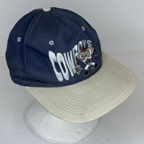 Vintage Dallas Cowboys Taz 1993 Looney Tunes Snapback Navy Blue Retro Hat NFL