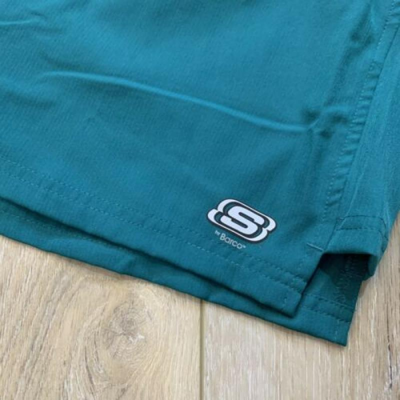 Mens Skechers By Barco Teal Green Sports V-Neck Scrub Top & Cargo Pant Set Large