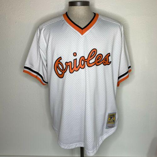 1985 Cal Ripken Jr. Throwback Authentic Mitchell & Ness Jersey Size 48 XLarge