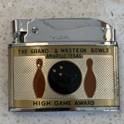 Vintage Harika lighter Bowling High Game Award 200 The Grand Western Amarillo TX