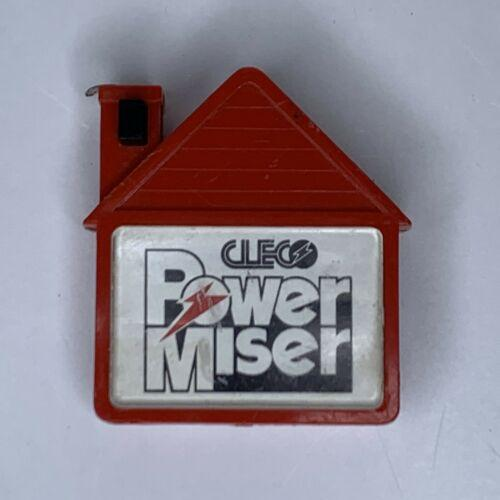 Vintage Cleco Power Miser Red house shaped Advertising Tape Measure 81+ Inches