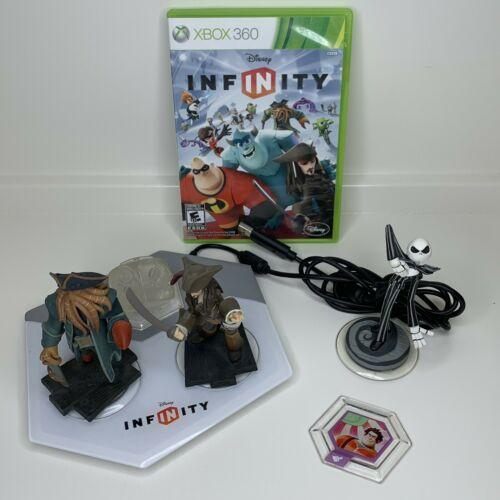 XBox 360 Lot Disney Infinity Game 4 Figures & 1 Power Disc Plus Portal & Game