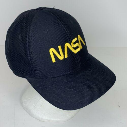 NASA NAVY BLUE Snapback Hat Gold Embroidery USA Ball Cap Space Astronaut Shuttle