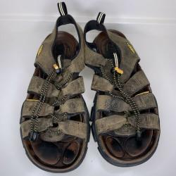Keen Dakota Bison Leather Sport Sandals Men's 8.5 Brown Hiking Outdoors 1003030