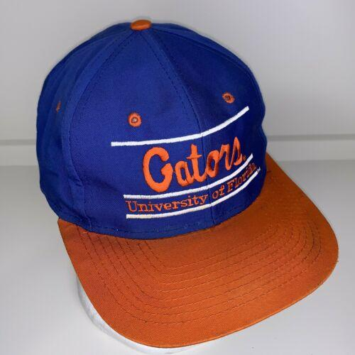 Vtg University of Florida Gators Snapback Hat Ball Cap Split Bar Ships FREE