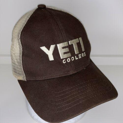 Yeti Coolers Brown Cotton & Mesh Strapback Baseball Cap Hat
