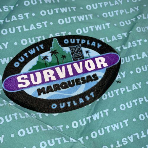 Survivor Marquesas Rotu Tribe Bandana Scarf Handkerchief Face Mask Teal Blue