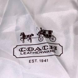 Coach White Drawstring Storage Sleeper Dust Bag Pouch Brown Logo 19 x 23