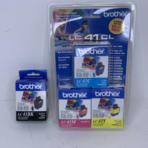 NEW GENUINE Brother Black LC41BK LC41C LC41M LC41Y Ink Cartridge LOT expired