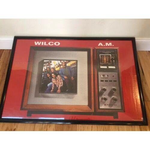 Wilco Poster A.M. Early Band Shot 1995 Promotional Use Only Sire Records Framed